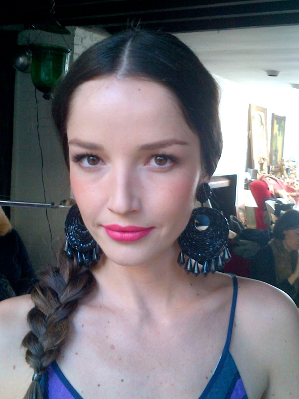 Et voila! Renata looking just lovely with a little glow and a great lip colour for spring: Pink Flamingo by Tom Ford